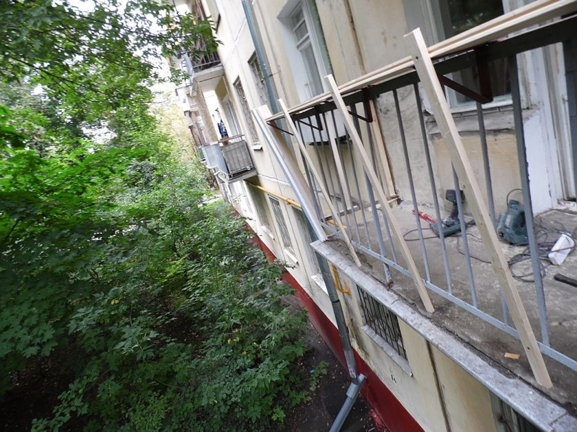 Крыша балкона в хрущевке своими руками.