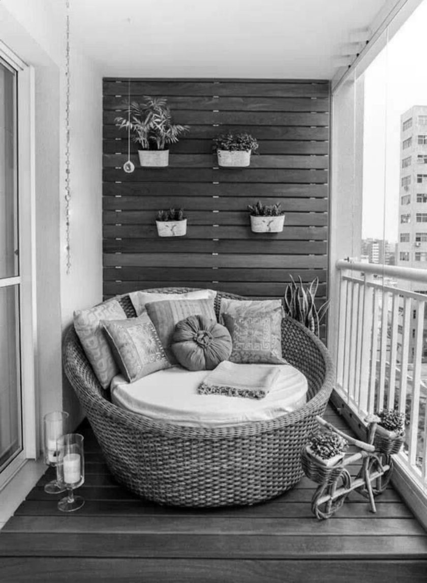 Balcony design plan - 30 correctly startling furnishing idea.