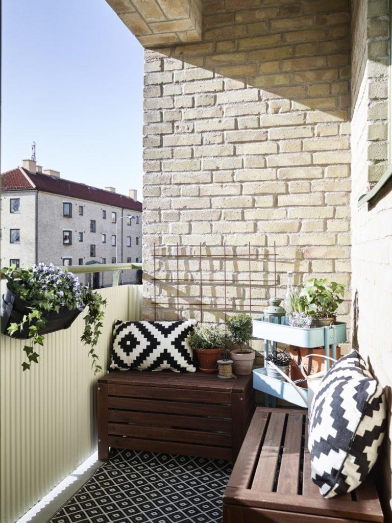 Кирпичные стены на балконе - варианты идеальной окраски (77 .
