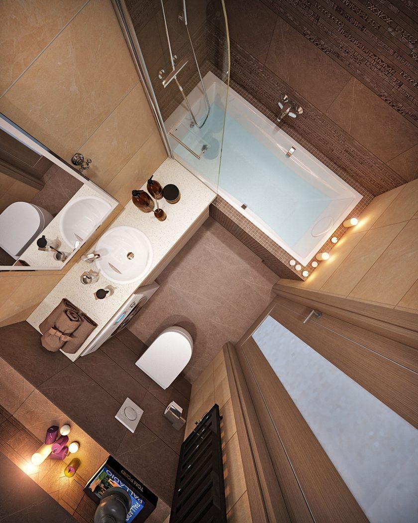 Недорогой дизайн ванной комнаты 4 кв.м