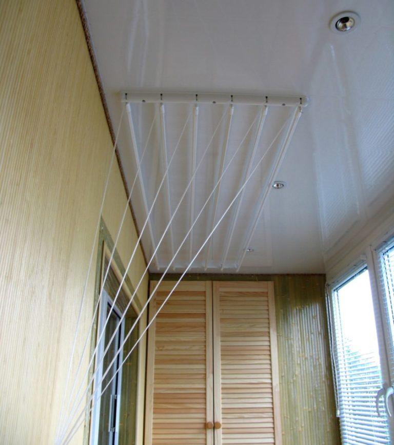 Как сделать вешалку для белья на балкон своими руками 48