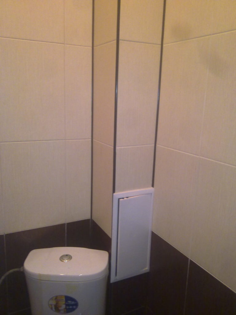 Спрятать трубы в туалете своими руками 90