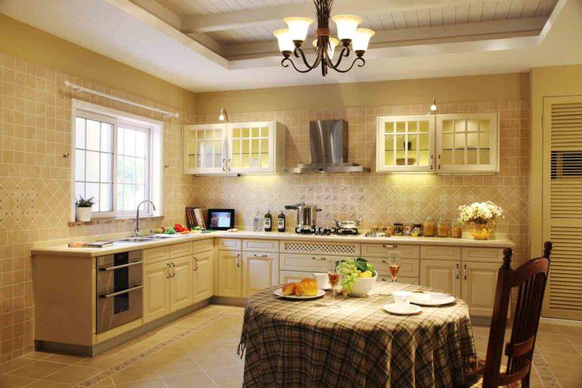 Оформление стен кухни в стиле прованс