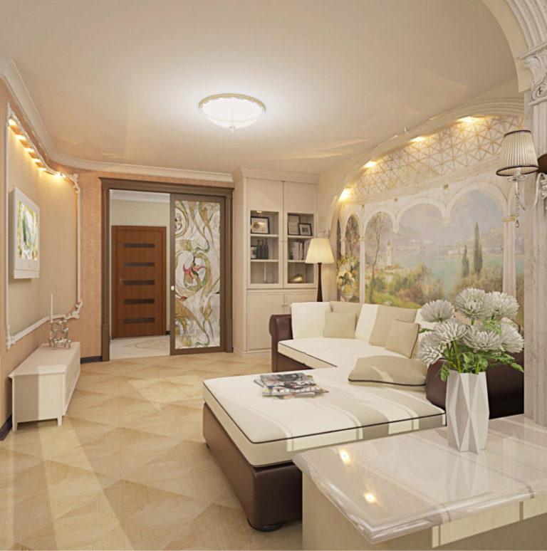 Ремонт в классическом стиле двухкомнатной квартиры
