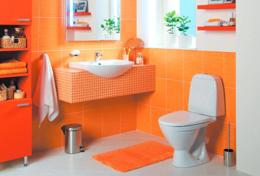 Azulejos de color naranja para el ba o for Marmol color naranja