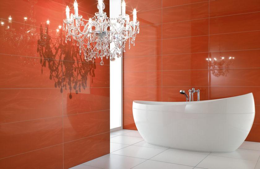 Arancione foto bagno