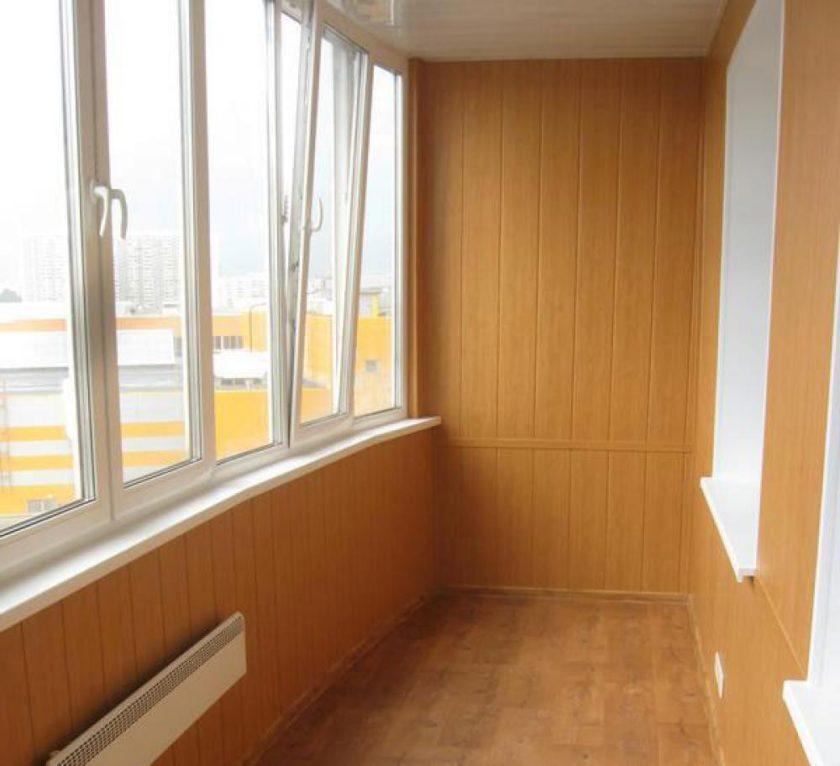 Отделка балкона панелями пвх с чего начать