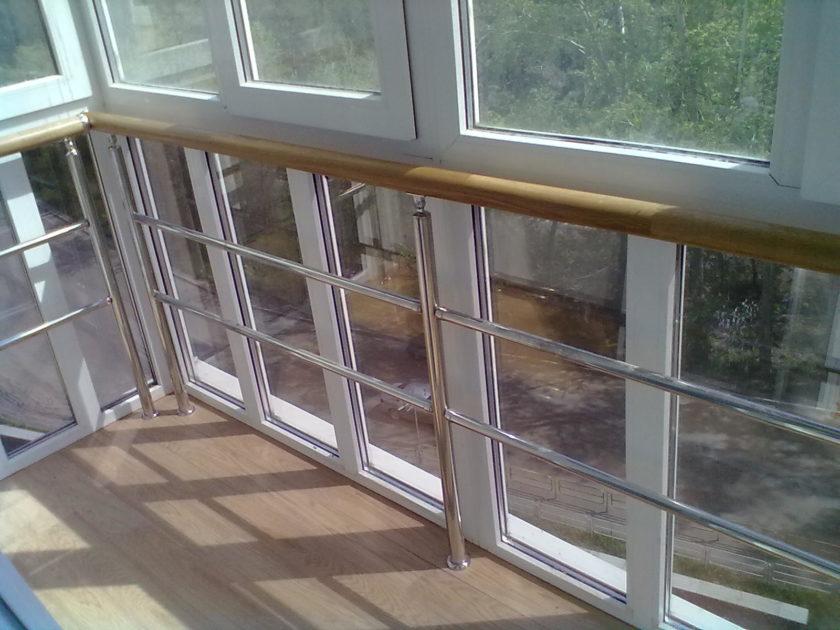 Перила с деревянными поручнями компания зигма - производство.
