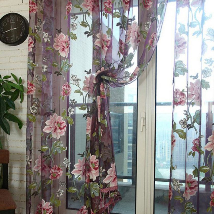Красивая тюль с цветами