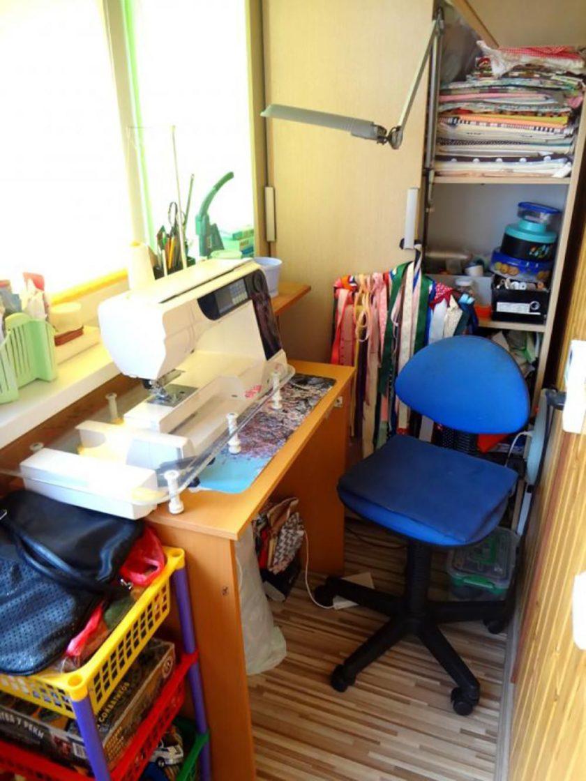 Моё рабочее место - лоджия - Ярмарка мастеров - ручная работ.