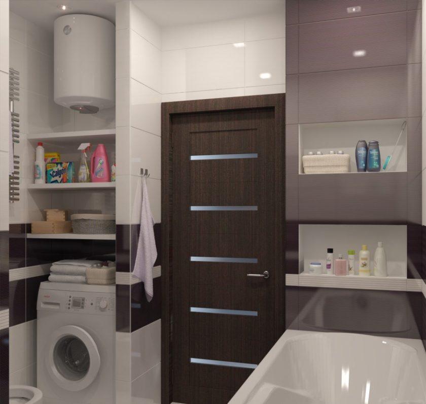 Ванная комната дизайн 6 кв м с душевой кабиной