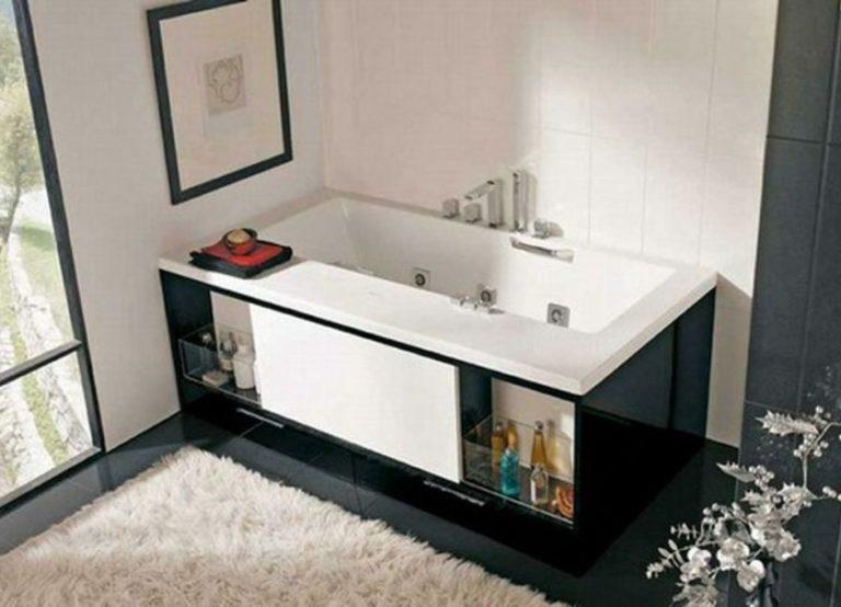 Шкаф под ванной - 84 фото стильной маскировки шкафов и полок