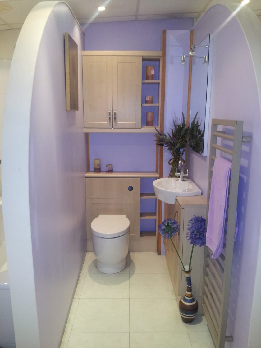 Фото ванных комнат в сиреневом цвете фото