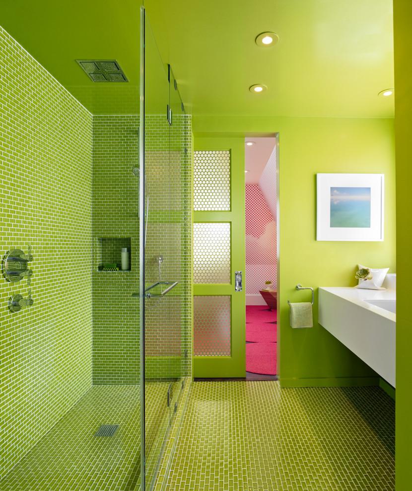 Ванные комнаты в зеленом цвете дизайн