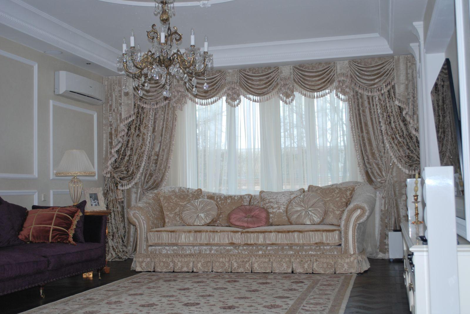 Ламбрекен в классическом стиле зал.