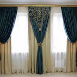 Красивые шторы с декором из шнура