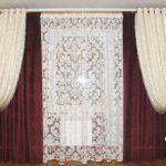Комлект красивых штор для гостиной