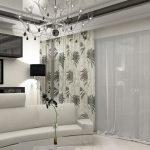 Современный стиль в гостиной.