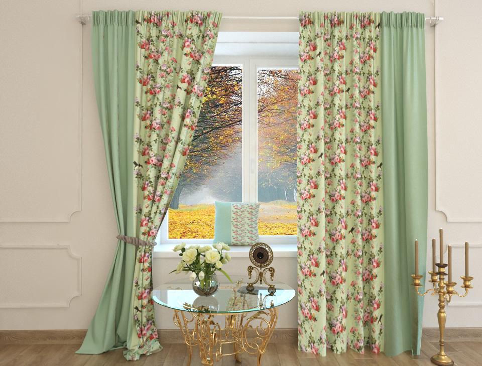 Цветочные шторы для стиля прованс.